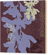 Orchids Cocoa-lavender  Wood Print