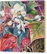Orchids In White Wood Print