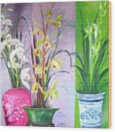 Orchids Trio Wood Print