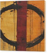 Order In Chaos Yellow Wood Print
