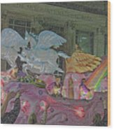 Order Of Polka Dots Emblem Float - Side View - Colored Pencil Wood Print