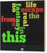 Order The Lyrics Game. Queen. Bohemian Rapsody. Game For Music Lovers And Fans Wood Print