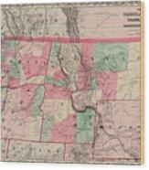 Oregon And Washington Territory Wood Print