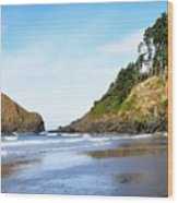 Oregon - Beach Life Wood Print