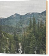 Oregon Cascade Range Wood Print