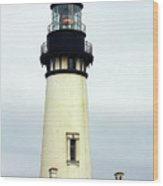 Oregon Coast Lighthouses - Yaquina Head Lighthouse Wood Print by Christine Till