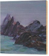 Oregon Coast Seal Rock Mist Wood Print