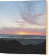 Oregon Coast Sunset Wood Print