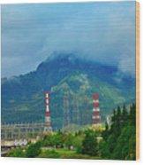 Oregon Columbia River - River View Wood Print