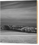 Oregon Field In Infrared Wood Print