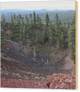 Oregon Landscape - Crater At Lava Butte Wood Print