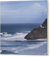 Oregon Lighthouse Wood Print
