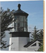 Oregon Lighthouses - Cape Meares Lighthouse Wood Print by Christine Till