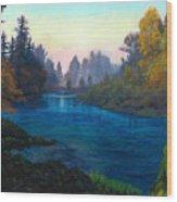 Oregon Santiam Landscape Wood Print