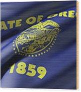 Oregon State Flag Wood Print