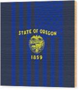 Oregon State Flag Graphic Usa Styling Wood Print