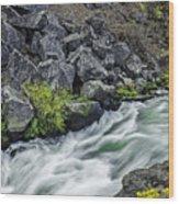 Oregon's Dillon Falls Wood Print