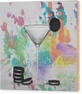 Oreo Happy Hour Watercolor Bg Wood Print