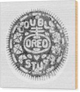 Oreo In Negetive Wood Print