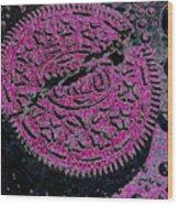 Oreo In Pink Wood Print
