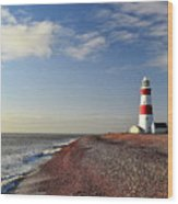Orford Ness Lighthouse Wood Print by Photo by Andrew Boxall