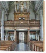 Organ At St Mary Of Aldermanbury Wood Print by David Bearden