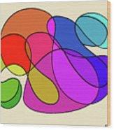 Organic Kaleidoscope Wood Print