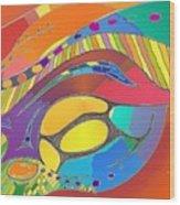 Organic Life Scan Or Cellular Light - Original, Square Wood Print
