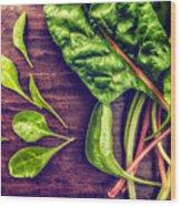 Organic Rainbow Chard Wood Print