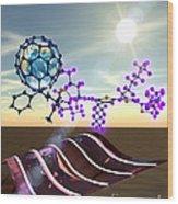 Organic Solar Cells Wood Print