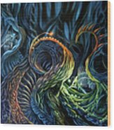 Organic Underworld Wood Print
