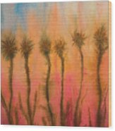 Organic Watercolor Art Wood Print