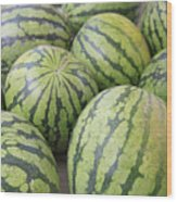 Organic Watermelon Wood Print by Wendy Connett