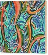 Orgy Oncorynchus Wood Print