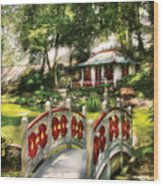 Orient - Bridge - The Bridge To The Temple  Wood Print by Mike Savad