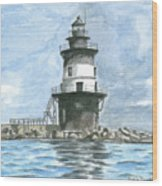 Orient Point Lighthouse Wood Print