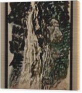 Oriental Falls Wood Print