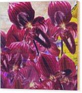 Oriental Orchid Garden Wood Print