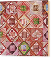 Oriental Patchwork Tapestry Wood Print