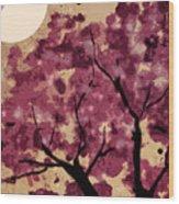 Oriental Plum Blossom Wood Print