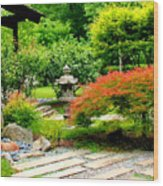 Oriental Scenic Wood Print