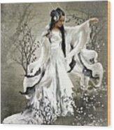 Oriental Sprinkle Wood Print