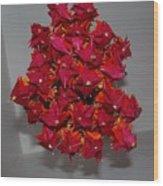 Origami Flowers Wood Print