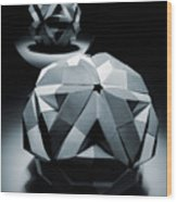 Origami Paper Sphere Wood Print