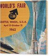 Original 1962 Seattle Worlds Fair Promotion Wood Print