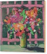 Original Bouquetaday Floral Painting By Elaine Elliott 59.00 Incl Shipping 12x12 On Canvas Wood Print