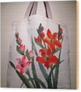 Original Hand Painted Tote Bag Wood Print