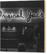 Original Joe's  San Jose Bw Wood Print