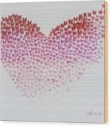 Original Oil Painting Heart, Painting Butterflies, Valentines Day Art, Wall Art Love Wood Print