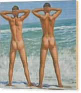 Original Oil Painting Male Nude Gay Interest Art By Seasid On Canvas #16-2-5-0-10 Wood Print